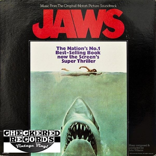 Jaws Music From The Original Motion Picture Soundtrack First Year Pressing 1975 USMCA Records MCA-2087 Vintage Vinyl Record Album