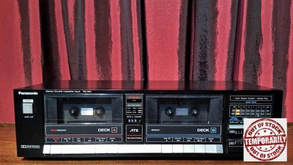Vintage 1986 Panasonic RS-363 Stereo Double Cassette Tape Deck