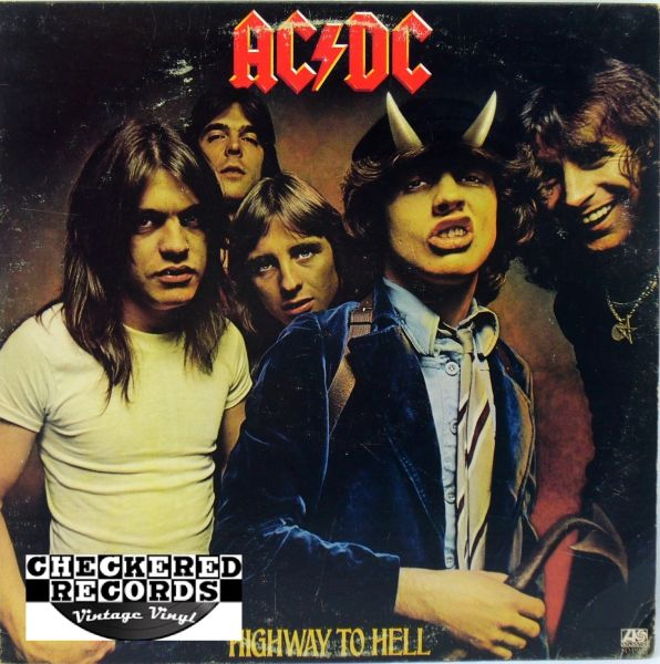 AC/DC Highway To Hell First Year Pressing 1979 US Atlantic SD-19244 Vintage Vinyl LP Record Album