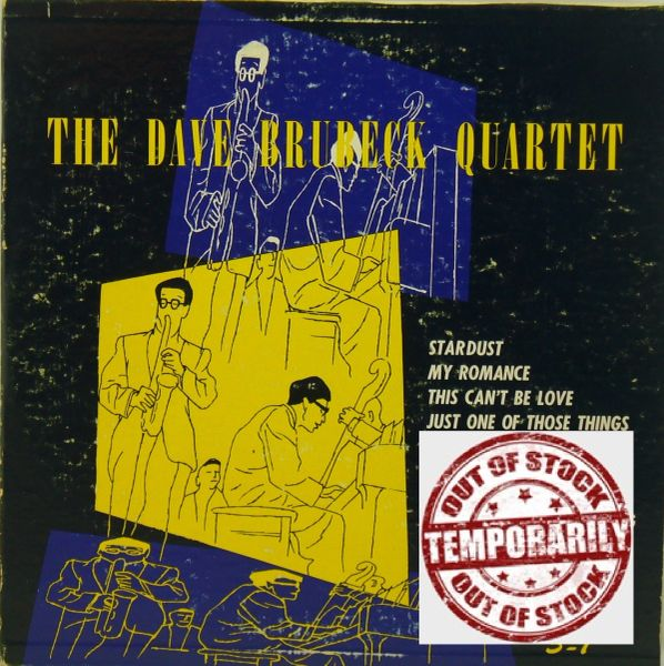 The Dave Brubeck Quartet ‎The Dave Brubeck Quartet Blue First Year Pressing 1952 USFantasy ‎3-7 F Vintage Vinyl Record Album