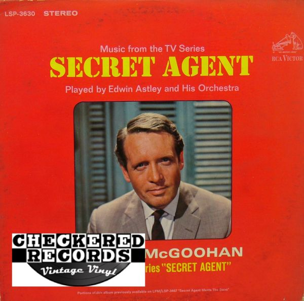 Secret Agent Music From The TV Series Soundtrack Edwin Astley And His Orchestra First Year Pressing 1966 US RCA Victor LSP-3630 Vintage Vinyl Record Album
