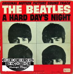 The Beatles ‎A Hard Day's Night Original Motion Picture Sound Track MONO First Year Pressing 1964 US United Artists Records ‎UAL 3366 Vintage Vinyl Record Album