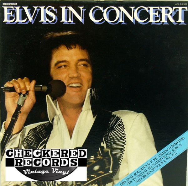 Elvis Presley Elvis In Concert First Year Pressing 1977 US RCA APL2-2587 Vintage Vinyl Record Album