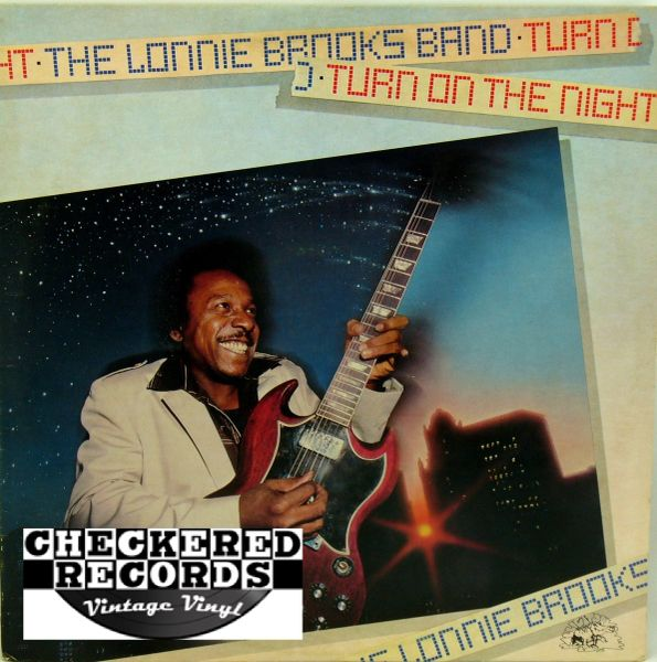 Lonnie Brooks ‎Turn On The Night First Year Pressing 1981 US Alligator Records ‎AL 4721 Vintage Vinyl Record Album
