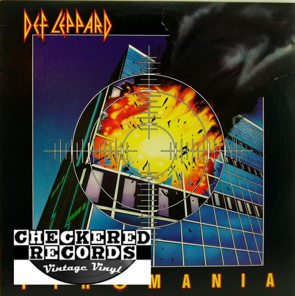 Def Leppard Pyromania First Year Pressing 1983 US Mercury 422-810-308-1-M-1 Vintage Vinyl Record Album