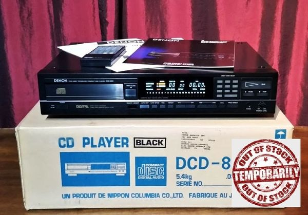 Vintage 1987 Denon DCD-800 Compact Disc Player In Box With Manuals