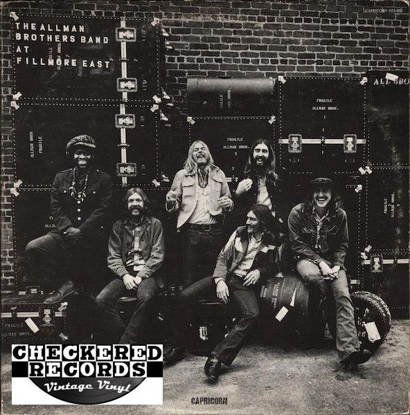 The Allman Brothers Band The Allman Brothers Band At Fillmore East First Year Pressing 1971 US Capricorn Records ‎SD 2-802 Vintage Vinyl Record Album
