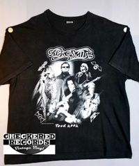 Vintage 2002 Aerosmith Just Push Play Official Concert Tour T-Shirt Giant Merchandising Company XXL Cygnus Sportswear T-Shirt