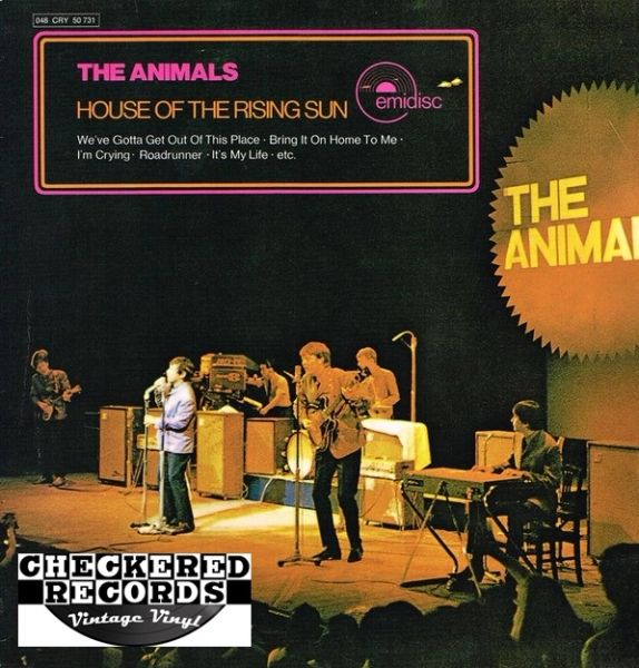 The Animals ‎House Of The Rising Sun 1977 Germany Music For Pleasure ‎1 M 048-50 731 Vintage Vinyl Record Album