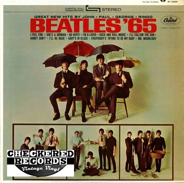 The Beatles ‎Beatles '65 First Year Pressing 1964 US Capitol Records ‎ST-2228 Vintage Vinyl Record Album
