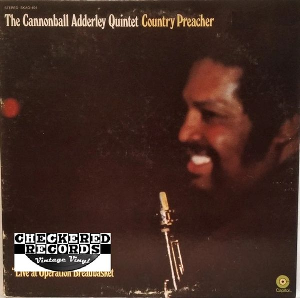 The Cannonball Adderley Quintet ‎Country Preacher 1976 US Capitol Records ‎SKAO-404 Vintage Vinyl Record Album