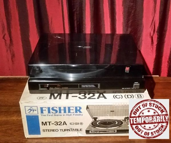 Vintage Fisher MT-32A Turntable