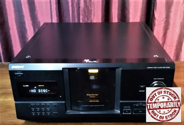 Vintage 1998 Sony CDP-CX220 Multi-disc Compact Disc CD Player