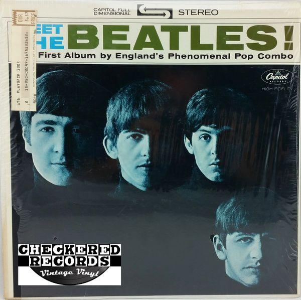 Vintage The Beatles Meet The Beatles Last Apple Pressing In Shrink Wrap 1975 US Apple Records ST 2047 Vintage Vinyl LP Record Album