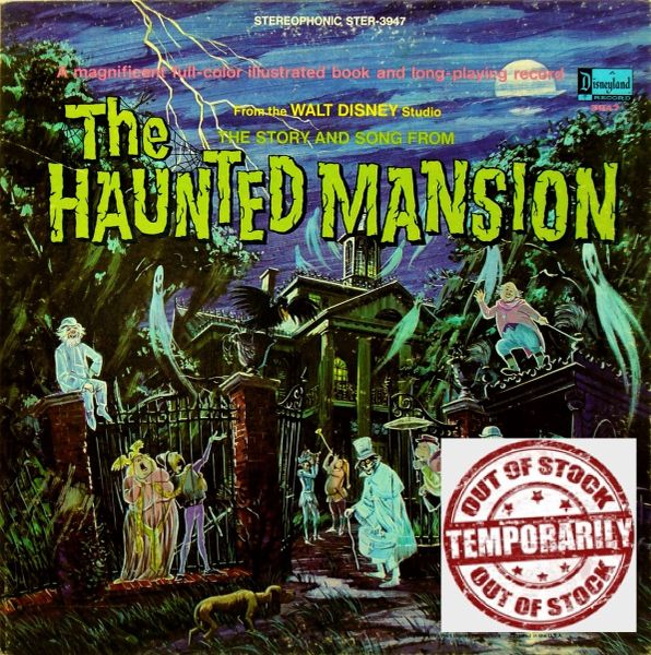 Walt Disney Studio The Story And Song From The Haunted Mansion First Year Pressing 1969 US Purple Label Disneyland STER-3947 Vintage Vinyl Record Album