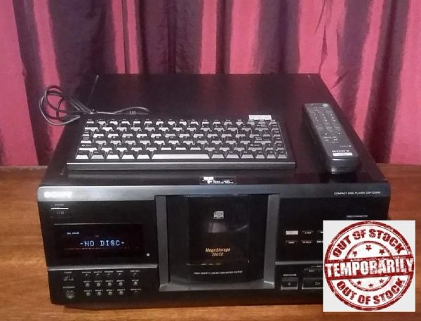 Vintage Sony CDP-CX240 Compact Disc Changer CD Player With Remote and Keyboard Excellent