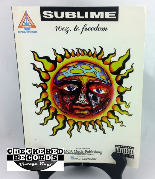 Vintage 1998 First Edition Sublime 40oz. To Freedom Guitar Recorded Versions MCA Music Publishing Hal Leonard Soft Cover Book Guitar Book