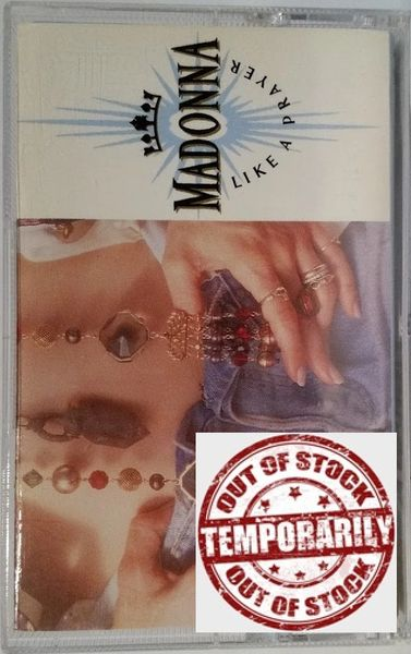 Vintage Madonna Like A Prayer 1989 US Sire ‎9 25844-4 Cassette Tape