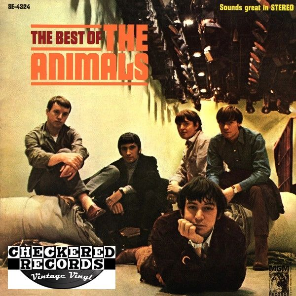 The Animals The Best Of The Animals 1966 US MGM Records ‎SE-4324 Vintage Vinyl Record Album