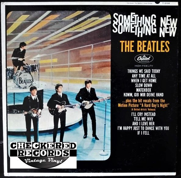 The Beatles Something New MONO First Year Pressing 1964 US Capitol Records T 2108 Vintage Vinyl Record Album