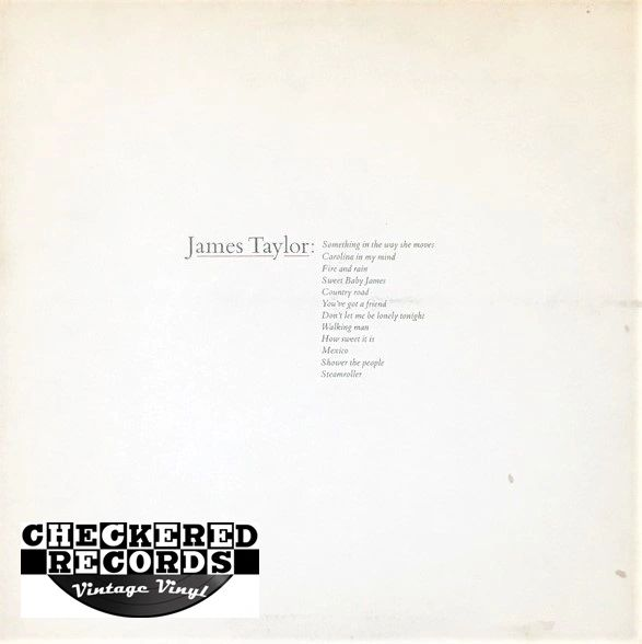 James Taylor James Taylor's Greatest Hits First Year Pressing 1976 US Warner Bros. Records ‎BS 2979 Vintage Vinyl Record Album