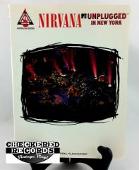 Vintage 1995 First Edition Nirvana MTV Unplugged In New York Guitar Recorded Versions EMI Music Publishing Hal Leonard Soft Cover Book Guitar Book