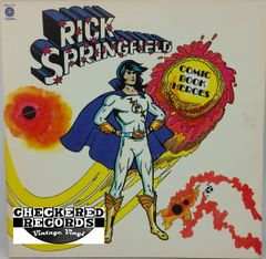 Vintage Rick Springfield Comic Book Heroes With Liner Notes First Year Pressing 1973 US Capitol Records SMAS-11206 Vintage Vinyl LP Record Album