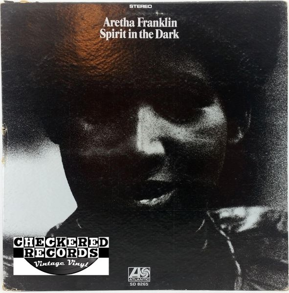 Vintage Aretha Franklin Spirit In The Dark Record Club of America Club Edition First Year Pressing 1970 US Atlantic SD 8265 Vintage Vinyl LP Record Album