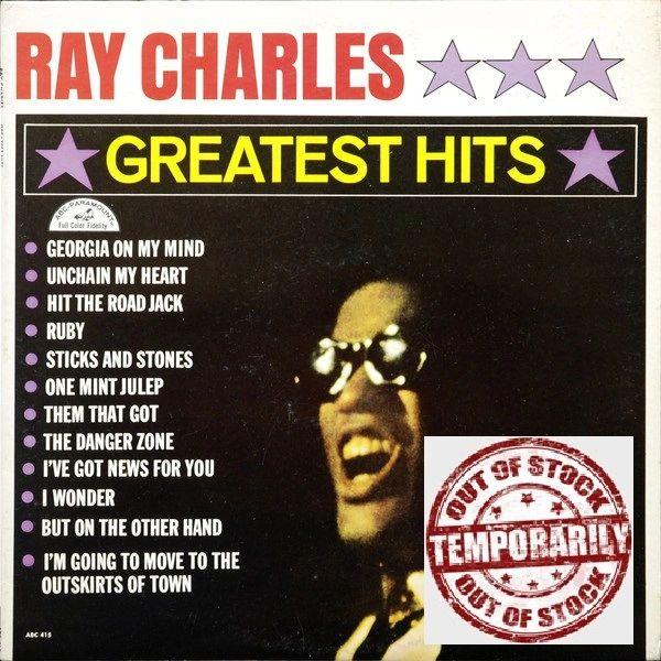 Ray Charles Greatest Hits First Year Pressing 1962 Mono ABC-Paramount ABC 415 Vintage Vinyl Record Album