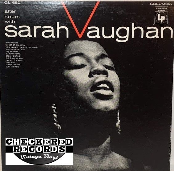 Sarah Vaughan After Hours With Sarah Vaughan First Year Pressing 1955 US Columbia ‎CL 660 Vintage Vinyl Record Album
