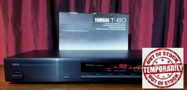 Vintage Yamaha T-60 Natural Sound AM/FM Stereo Tuner