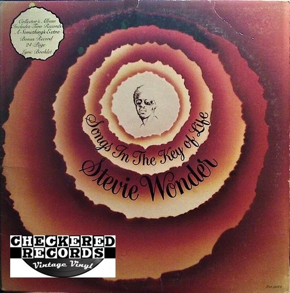 Stevie Wonder Songs In The Key Of Life First Year Pressing COMPLETE 1976 US Tamla T13-340C2 Vintage Vinyl Record Album