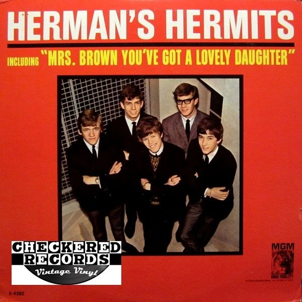 Herman's Hermits Introducing Herman's Hermits First Year Pressing 1965 US MGM Records E4282 Vintage Vinyl Record Album