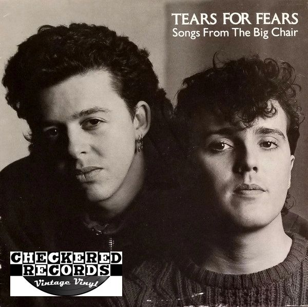 Tears For Fears Songs From The Big Chair First Year Pressing 1985 US Mercury 422-824 300 Vintage Vinyl Record Album