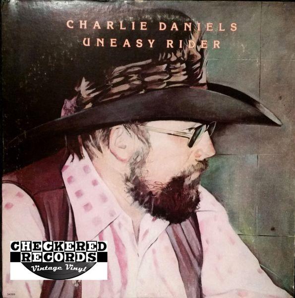 Vintage Charlie Daniels Uneasy Rider First Year Pressing 1976 US Epic E-34369 Vintage Vinyl LP Record Album