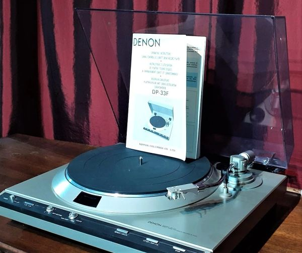 1981 Denon DP-33F Servo Controlled Direct-Drive Record Player Turntable