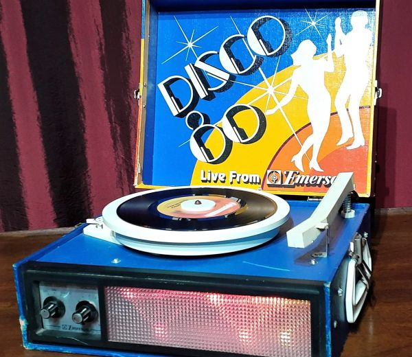 Vintage 1980s Emerson Disco 80 Record Player