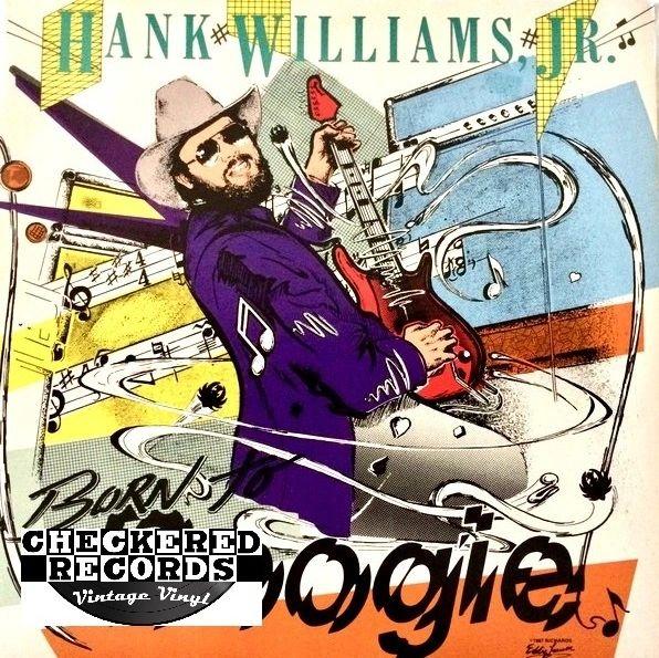 Vintage Hank Williams Jr. Born To Boogie First Year Pressing 1987 US Warner Bros. Records 1-25593 Vintage Vinyl LP Record Album