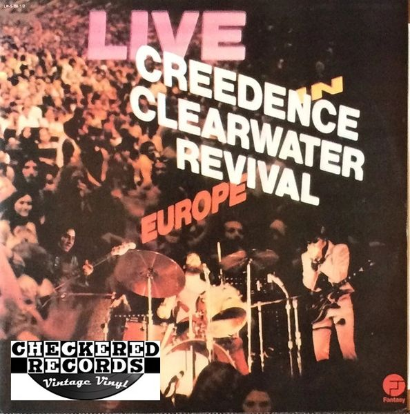 Creedence Clearwater Revival ‎Live In Europe First Year Pressing 1973 US Fantasy ‎CCR-1-2 Vinyl LP Record Album