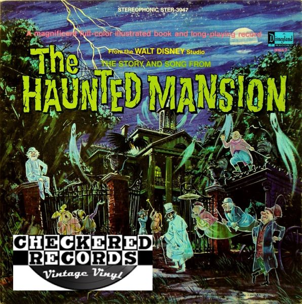 Walt Disney Studio ‎The Story And Song From The Haunted Mansion First Year Pressing 1969 US Purple Label Disneyland ‎STER-3947 Vintage Vinyl Record Album