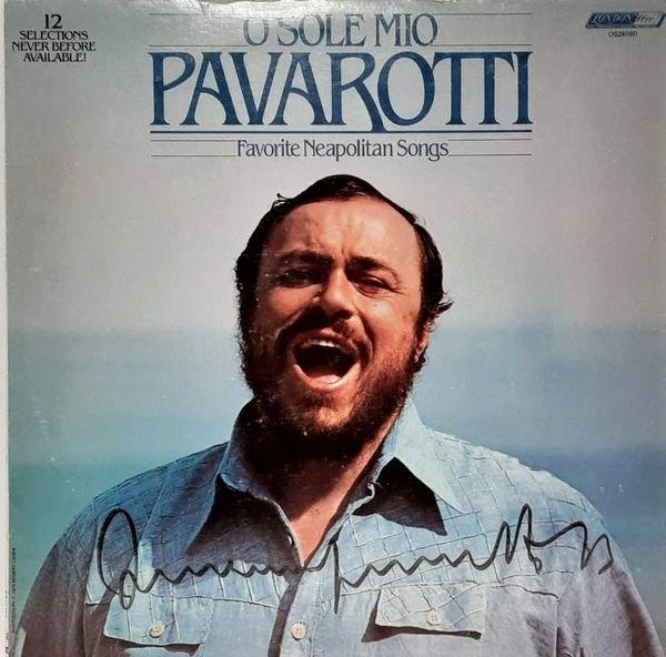 SIGNED COPY Luciano Pavarotti O Sole Mio Favorite Neapolitan Songs 1979 US London Records OS26560 Vintage Vinyl Record Album