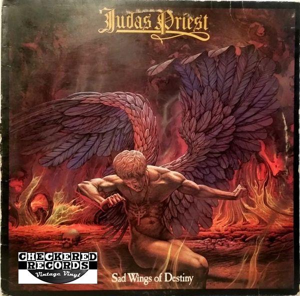 Vintage Judas Priest Sad Wings Of Destiny 1980 US Ovation Records OV/1751 Vintage Vinyl LP Record Album