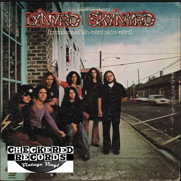 Lynyrd Skynyrd (Pronounced 'Lĕh-'nérd 'Skin-'nérd) First Year Pressing 1973 US MCA Records Sounds Of The South MCA-363 Vinyl LP Record Album