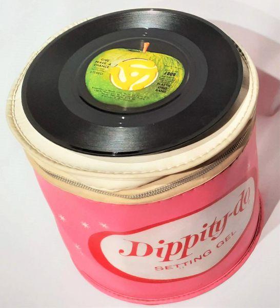 Vintage 1960s Dippity Do Curler Bag 45 Record Case 45 RPM Record Carrying Case ULTRA RARE