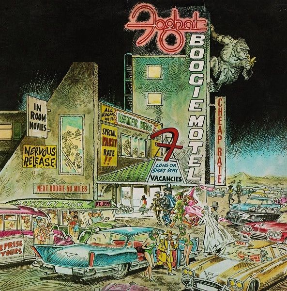 Vintage Foghat Boogie Motel First Year Pressing 1979 US Bearsville BHS 6990 Vintage Vinyl LP Record Album
