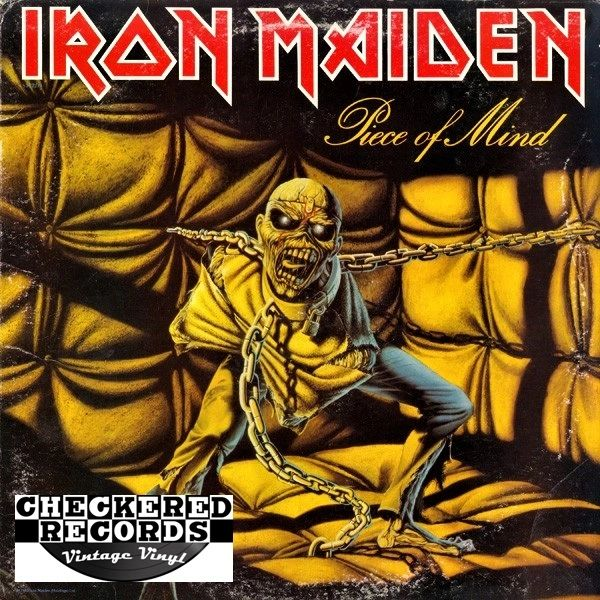 Iron Maiden Piece Of Mind First Year Pressing 1983 US Capitol Records ST-12274 Vintage Vinyl Record Album