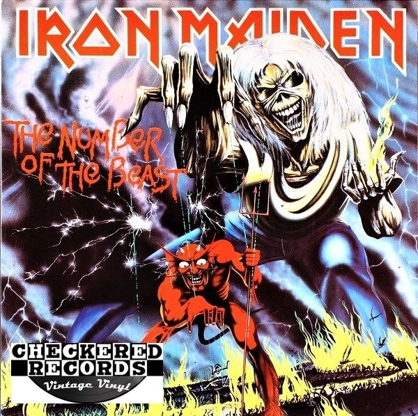 Iron Maiden The Number Of The Beast First Year Pressing 1982 US Harvest ST-12202 Vintage Vinyl Record Album