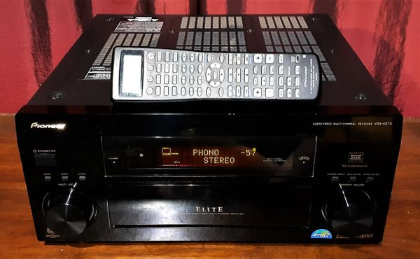 2002 Pioneer VSX-45TX Audio Video Multi Channel Receiver with Turntable Hook Up PHONO Inputs