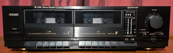 TEAC W-370C Stereo Dual Cassette Tape Deck