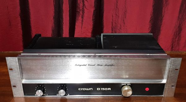Crown D150A Integrated Circuit Stereo Amplifier 1975 Silver